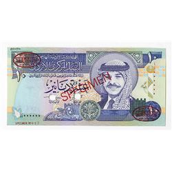 Central Bank of Jordan. 1996. Specimen Banknote.