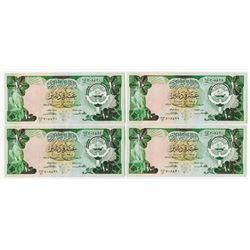Central Bank of Kuwait. L.1968. Quartet of Sequential Notes.