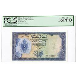Bank of Libya. 1963 // AH1382. Issued Banknote.