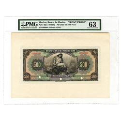Banco de Mexico, ND (1925-34) 500 Pesos Face Proof.