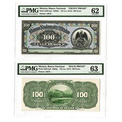 Banco Nacional de Mexico,  ND (ca.1913) Face and Back Proof Pair