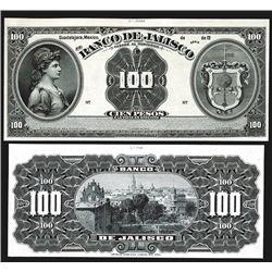 Banco De Jalisco ND (1900-1913) Proof Banknote Pair.