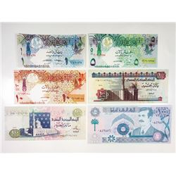 Various Middle Eastern Issuers. 1990s-2000s. Group of 6 Notes.