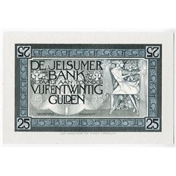 De Jelsumer Bank, ND (ca.1910-30) Essay Banknote Design Used as a Sample Advertising Bote.