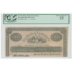 "Bank of Australasia, 1903 ""Dunedin"" Branch Proof Banknote."
