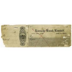 Karachi Bank Limited. 19xx. Proof Check by Waterlow & Sons