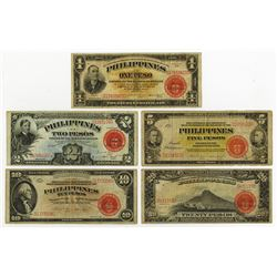 Commonwealth - Philippines, 1936 Issue Banknote Quintet.