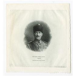 """Turkiye Cumhuriyet Merkez Bankasi. ND (ca. 1920's). Vignette of Mustapha Kemal Pacha """"Ataturk""""."""