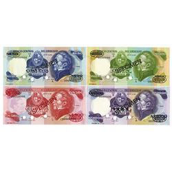 Banco Central Del Uruguay,  1978-99, Specimen Banknote Quartet.