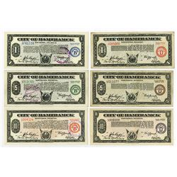 City of Hamtramck. 1933. Assortment of Issued Depression Scrip.