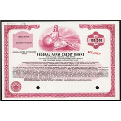 Federal Farm Credit Banks 1971 Specimen Bond.