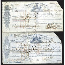 Colonial Bank of Australasia. 1870 First of Exchange Drafts.