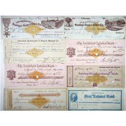 U.S. Revenue Imprinted Checks & Drafts, ca.1870-1880's from North Eastern States.