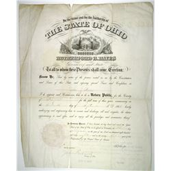 Rutherford B. Hayes. 19th U.S. President, 1868 Notary Public Appointment Document Signed ñR. B. Haye