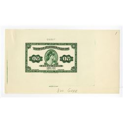 American Bank Note Company 1921 Litho Advertising Note Proof Printed in Reverse.