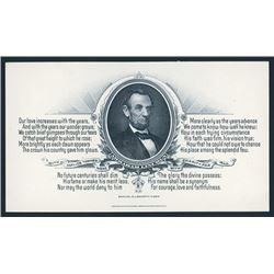 Western BNC Advertising Card with Lincoln and Poem By Kiser.