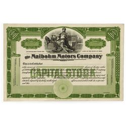 Maibohm Motors Co., ca.1916-1922, Proof Stock Certificate.