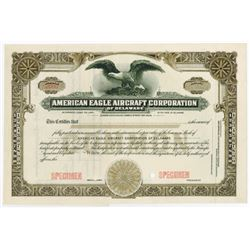 American Eagle Aircraft Corp. of Delaware, 1910-1940 Specimen Stock Certificate