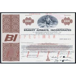 Braniff Airways, Inc. 1971 Specimen Bond.