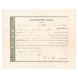 "Barnstable Bank, 1834 ""Cape Cod' Stock Certificate."