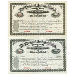 Chemical National Bank of New York, 1900-1910 Specimen Stock Certificate Pair.