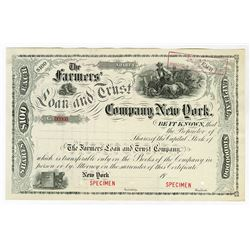 Farmers' Loan and Trust Co., ca.1900-1920 Specimen Stock Certificate
