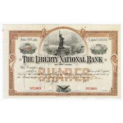 Liberty National Bank, ca.1900-1910 Specimen Stock Certificate