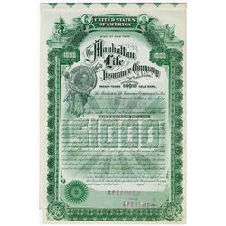 Manhattan Life Insurance Co., ca.1910-1920 Specimen Bond