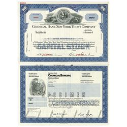 Group of Banking Specimen Stock Certificates, 1930-1989