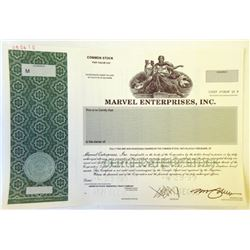 Marvel Enterprises, Inc., 1999 Specimen Stock Certificate Rarity.