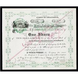 Wray Telephone Co., 1902 Stock Certificate