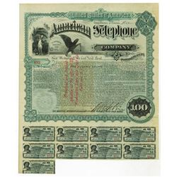 American Telephone Co., 1889 Issued Bond