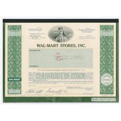 Wal-Mart Stores, Inc. 1983 Unique Approval Stock Certificate Proof Model