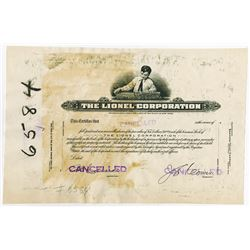 Lionel Corp., 1930-40's Proof Stock Certificate