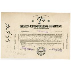 Seven-Up Bottling Co., 1930-40's Proof Stock Certificate