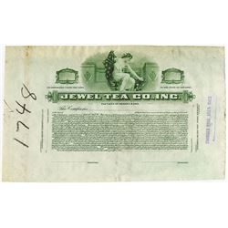 Jewel Tea Co., Inc., ca.1900-1920 Proof Stock Certificate