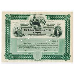 Havana-Washington Fruit Co. 1907 Specimen Stock Certificate.