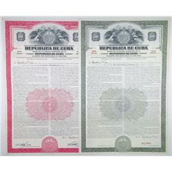 Republica de Cuba, 1949 Pair of Specimen Bonds