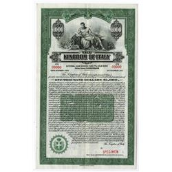 Kingdom of Italy, 1925 Specimen Bond