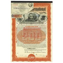 Mexican International Railroad Co. 1897 Issued & Uncancelled Bond.