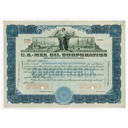 U.S.-Mex Oil Corp., 1910-1920 Specimen Stock Certificate