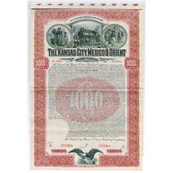 Kansas City, Mexico & Orient Railway Co., 1901 Specimen Bond