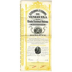 Deuda Nacional Interna Consolidada, 1896 Specimen Bond