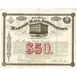 Masonic Hall Assoc., 1869 Issued Bond