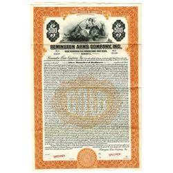 Remington Arms Co., Inc., 1922 Specimen Bond