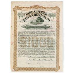 Lake Superior Iron & Chemical Co., 1907 Specimen Bond