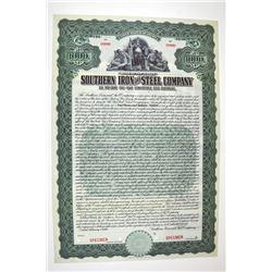 Southern Iron & Steel Co. 1910 Specimen Bond