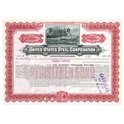 United States Steel Corp., 1901 Cancelled Bond Issued to Andrew Carnegie