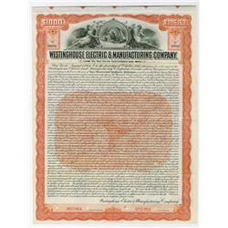 Westinghouse Electric & Manufacturing Co., 1907 Specimen Bond