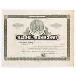 Alger-Sullivan Lumber Co., 1945 Proof Stock Certificate